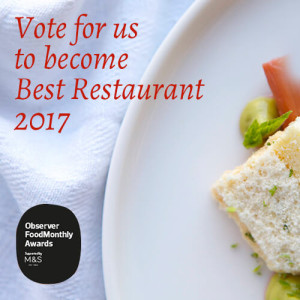 vote for us to become best restaurant 2017